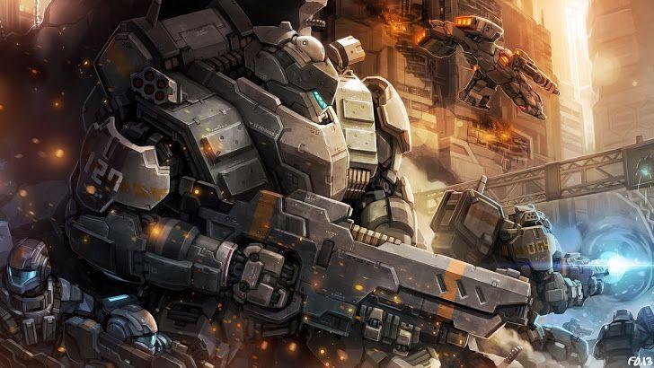 mecha soldier weapon armor sci fi original hd wallpaper