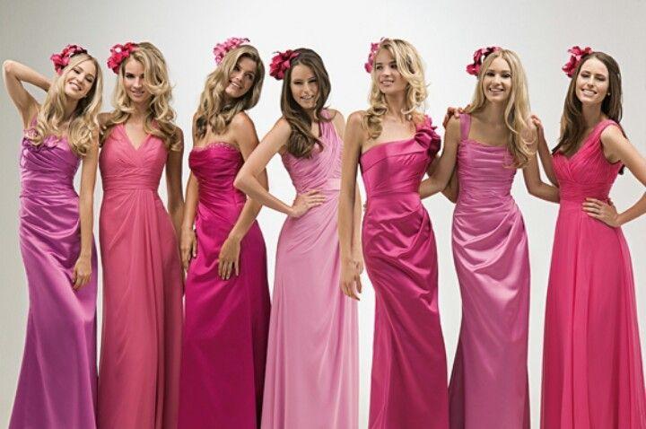 Shades of pink bridesmaids dresses | Vestidos | Pinterest | Vestiditos