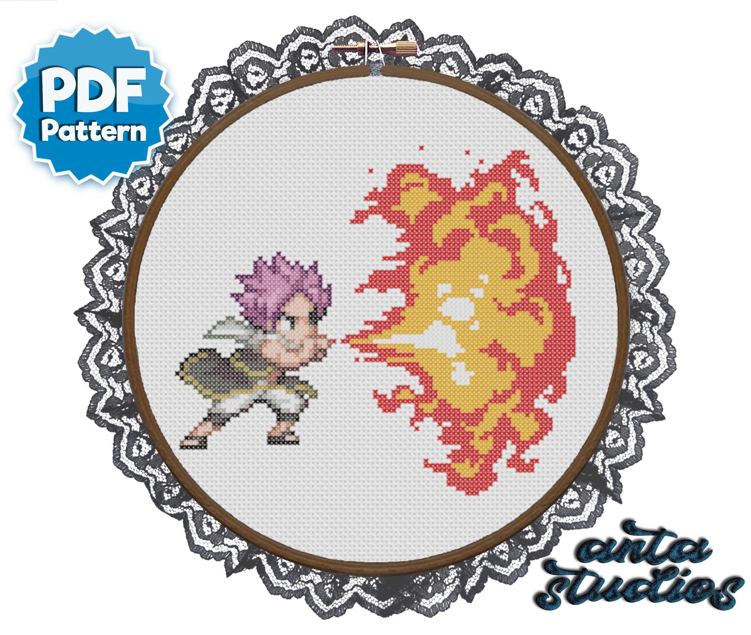Fairy Tail Natsu Dragneel Fire Dragon Roar Anime Cross