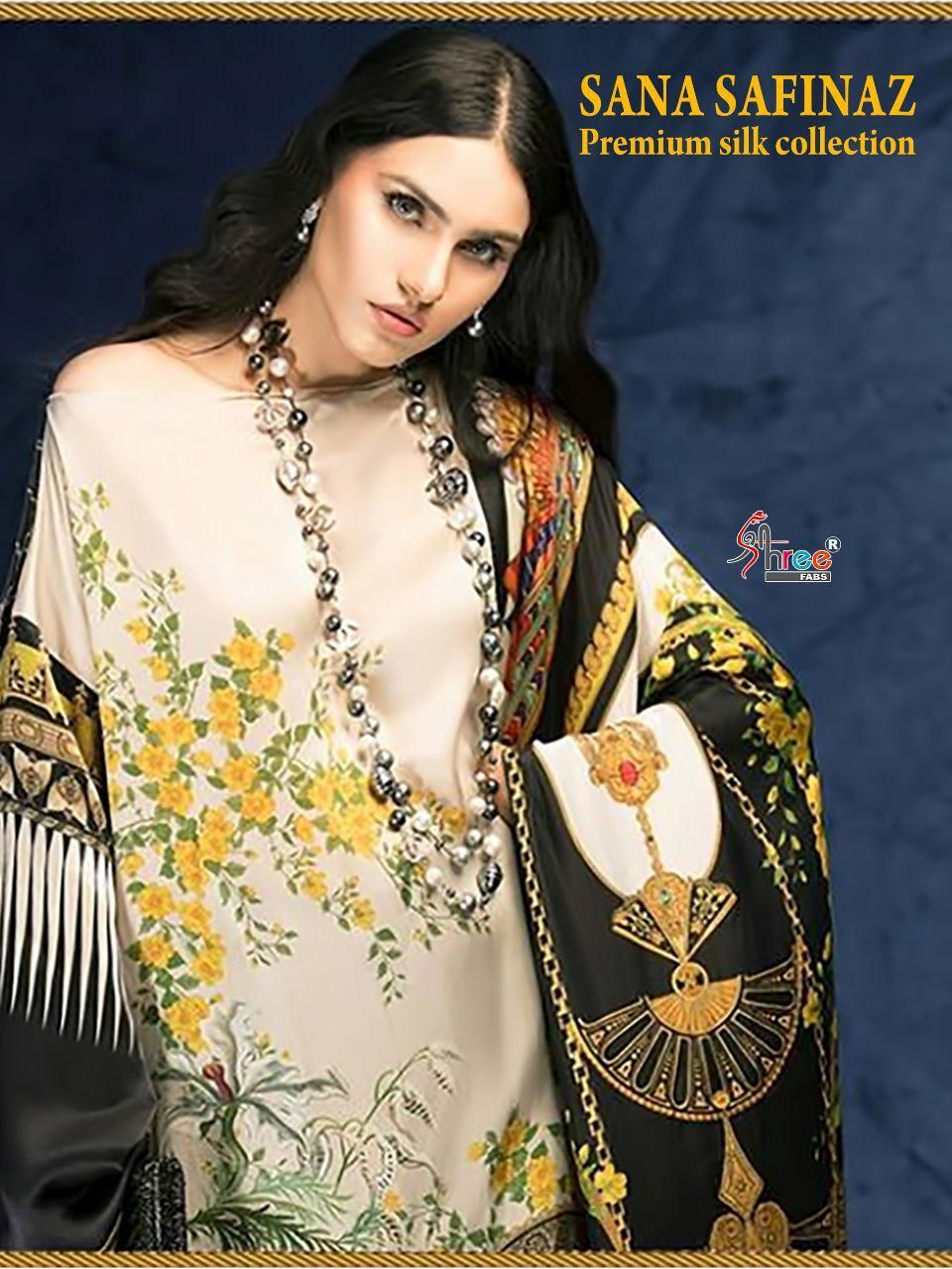 6ec0c235fe Shree Fabs Sana Safinaz Premium Silk Collection (6 Pc Set ...