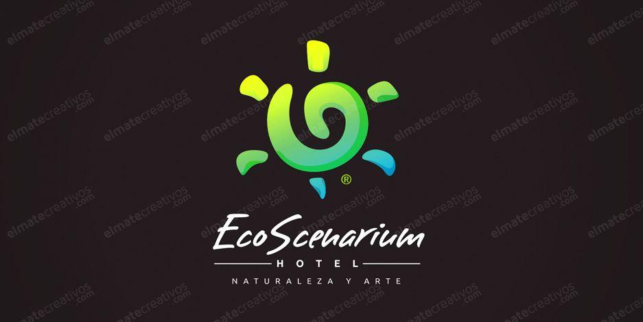 Diseño de logo para hospedaje, agua caliente y fria, a/a, alimentacion, areas verdes, espectaculos, shows en vivo , tours de bahia, tours diarios, tv por cable, alquiler de bicicletas. (Ecuador)