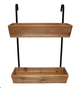 Hanging Wooden Planter Bo For Fence