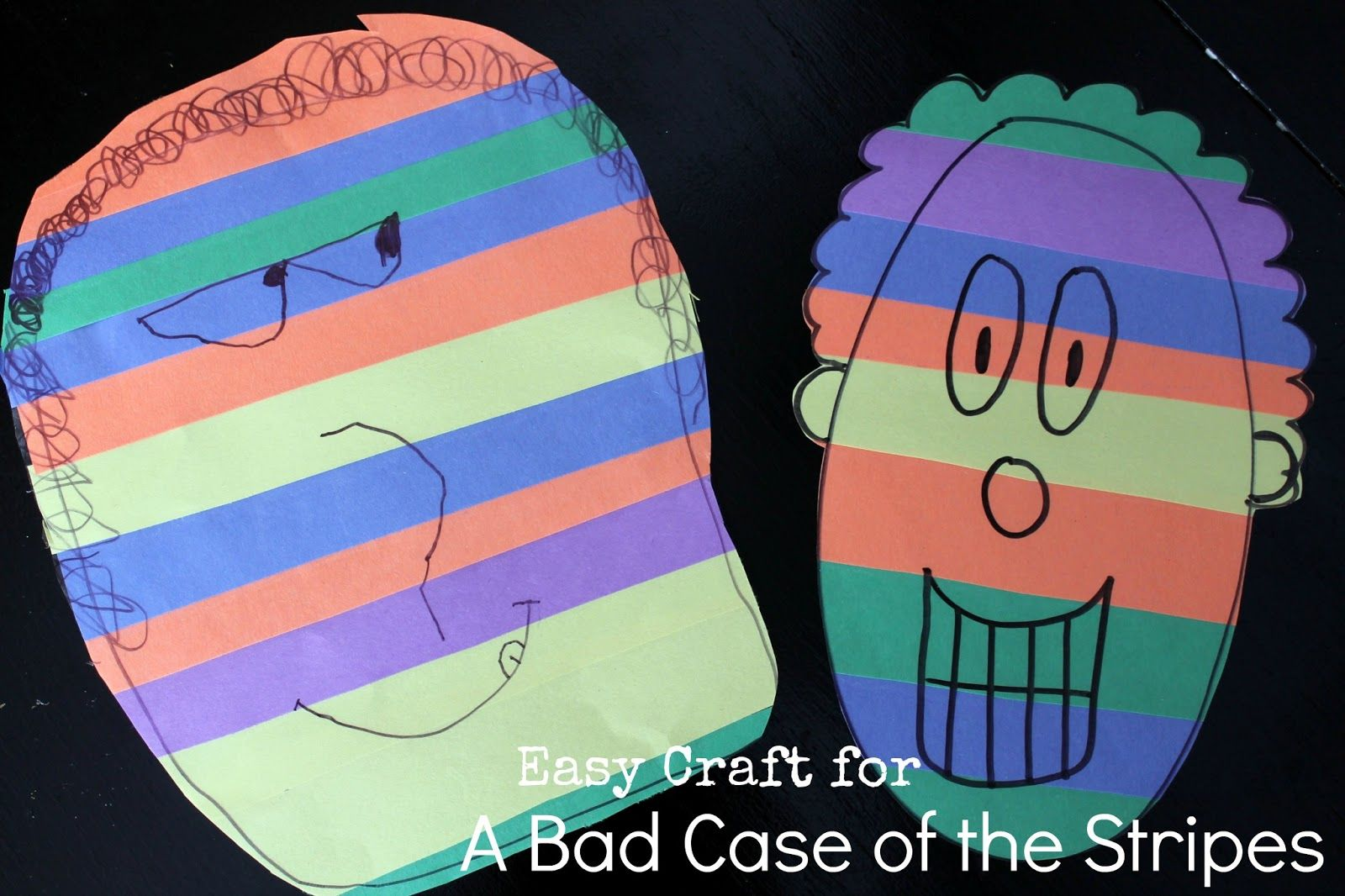 Easy Contact Paper Craft For A Bad Case Of The Stripes By