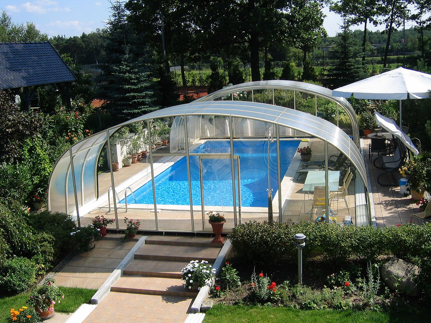 Retractable Enclosure Way To Use Your Pool All Year Round