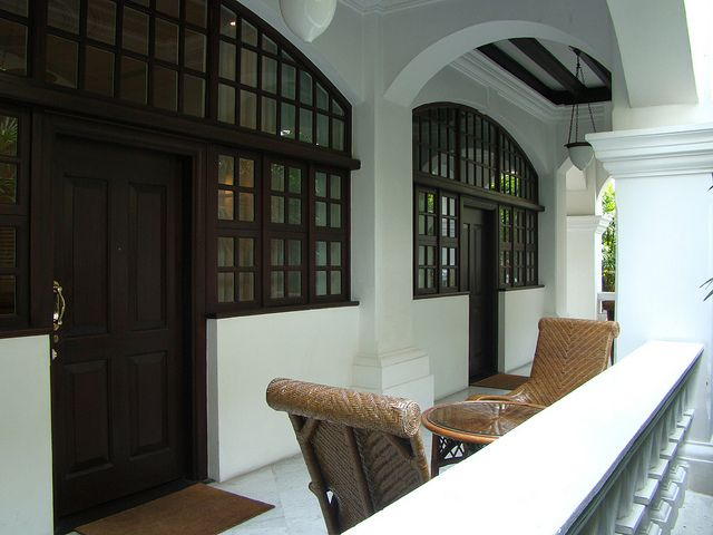 Singapore Raffles Hotel ~ Bungalow Porch, via Flickr.