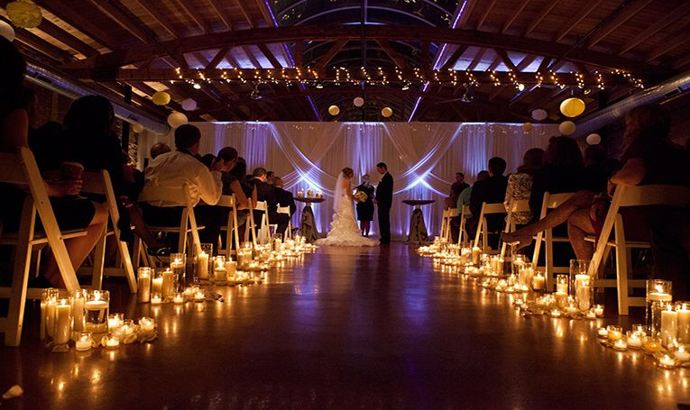 Loft On Lake Is One Of The Most Unique Wedding Venues In Chicago Purple Lighting Awesome