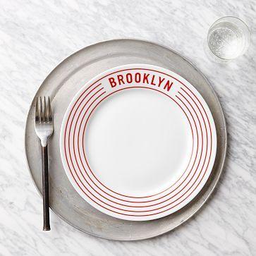 Red Stripe Pizza Plates - Brooklyn #westelm