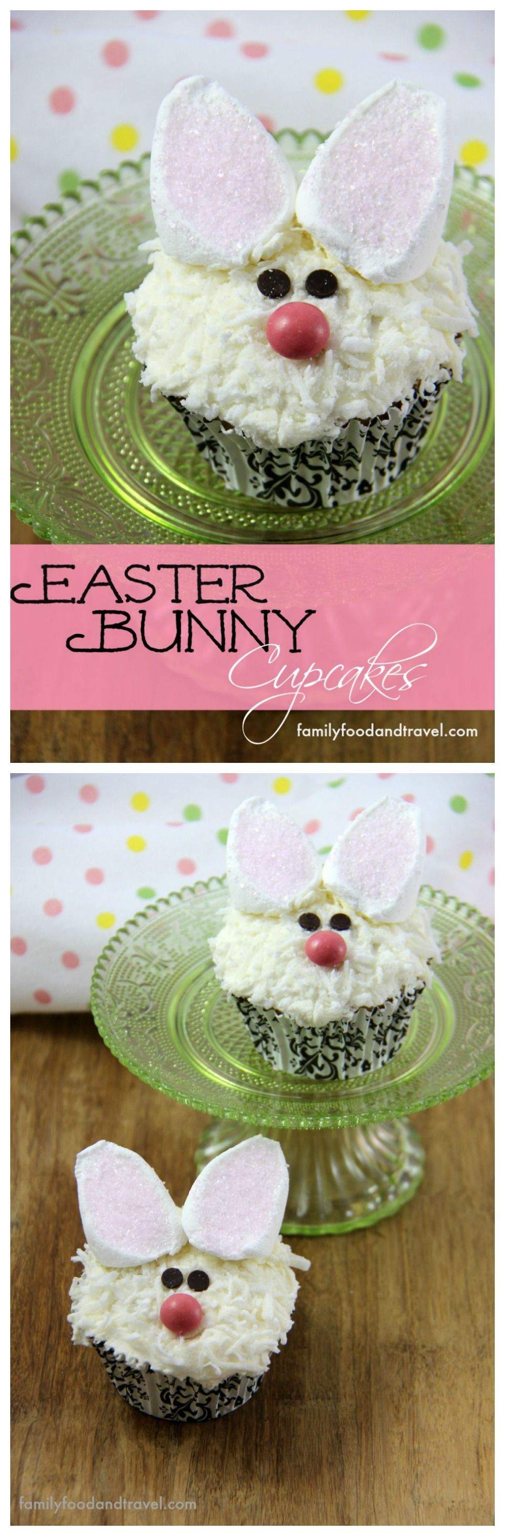 Easter Bunny Cupcakes - Step by step guide to create these adorable cupcakes that are perfect for your next Spring or Easter event. Who doesn't love these adorable bunnies?