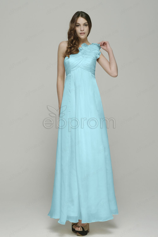 Light blue one shoulder maternity bridesmaid dresses   Maternity ...