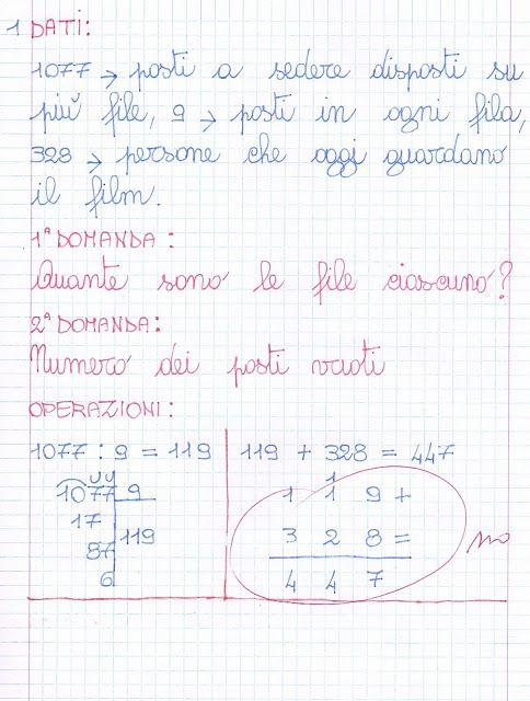 Verifica di problemi | Schede di matematica, Matematica ...