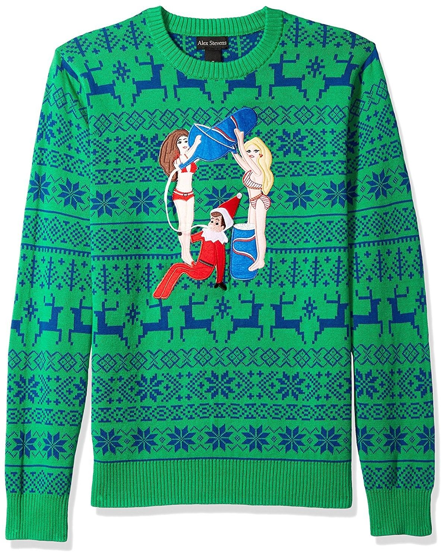 Alex Stevens Mens Ermahgerd Ugly Christmas Sweater
