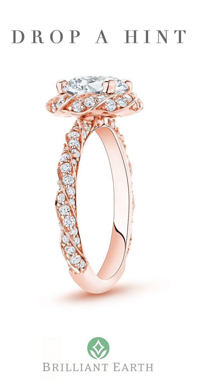 14k Rose Gold Cordoba Diamond Ring 5 8 Ct Tw Engagement