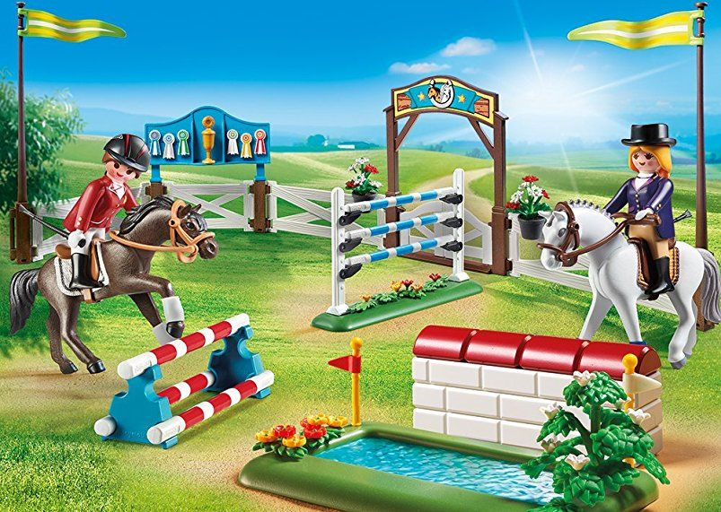 Amazon De Playmobil 6930 Reitturnier Playmobil Pferde