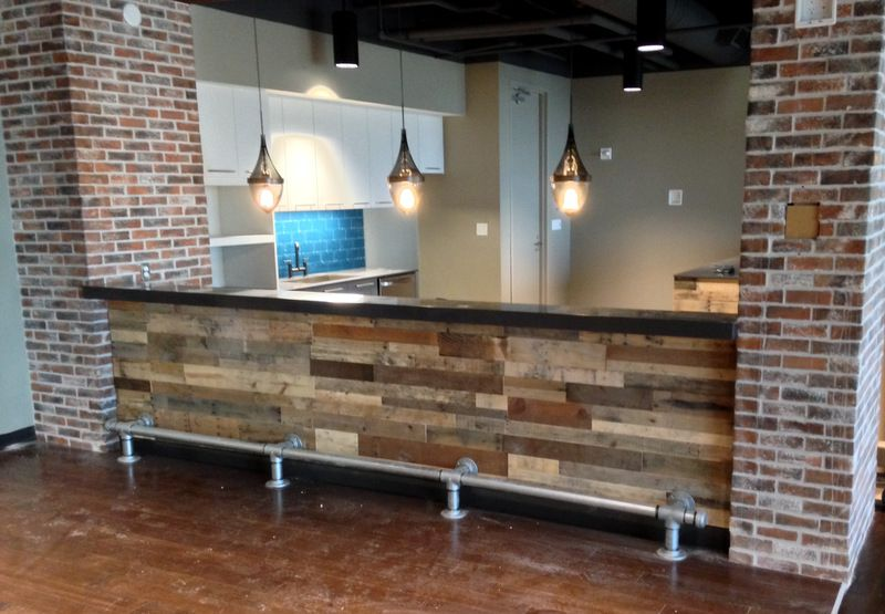 reclaimed pallet wood bar front - Reclaimed Pallet Wood Bar Front Reclaimed Wood Furniture