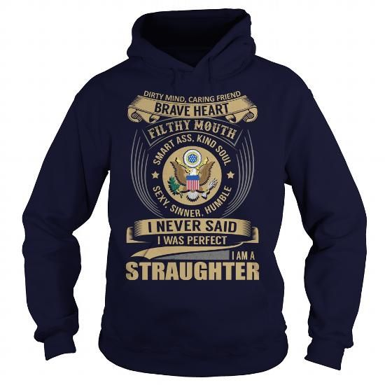 I Love STRAUGHTER Last Name, Surname Tshirt T shirts