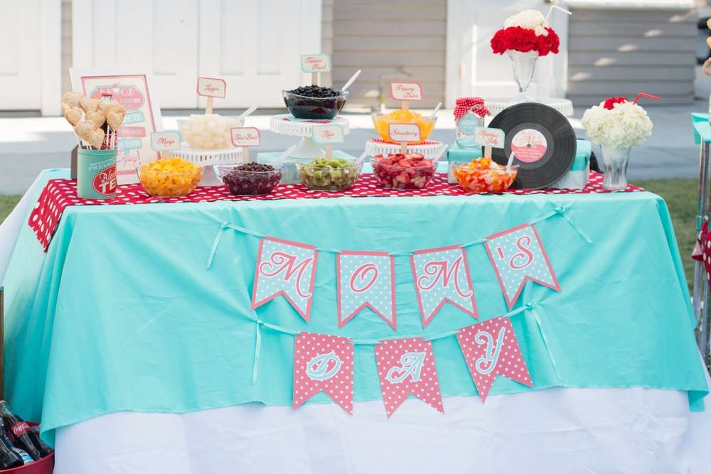 Retro Mother's Day Party Ideas Mother's day theme, 50th