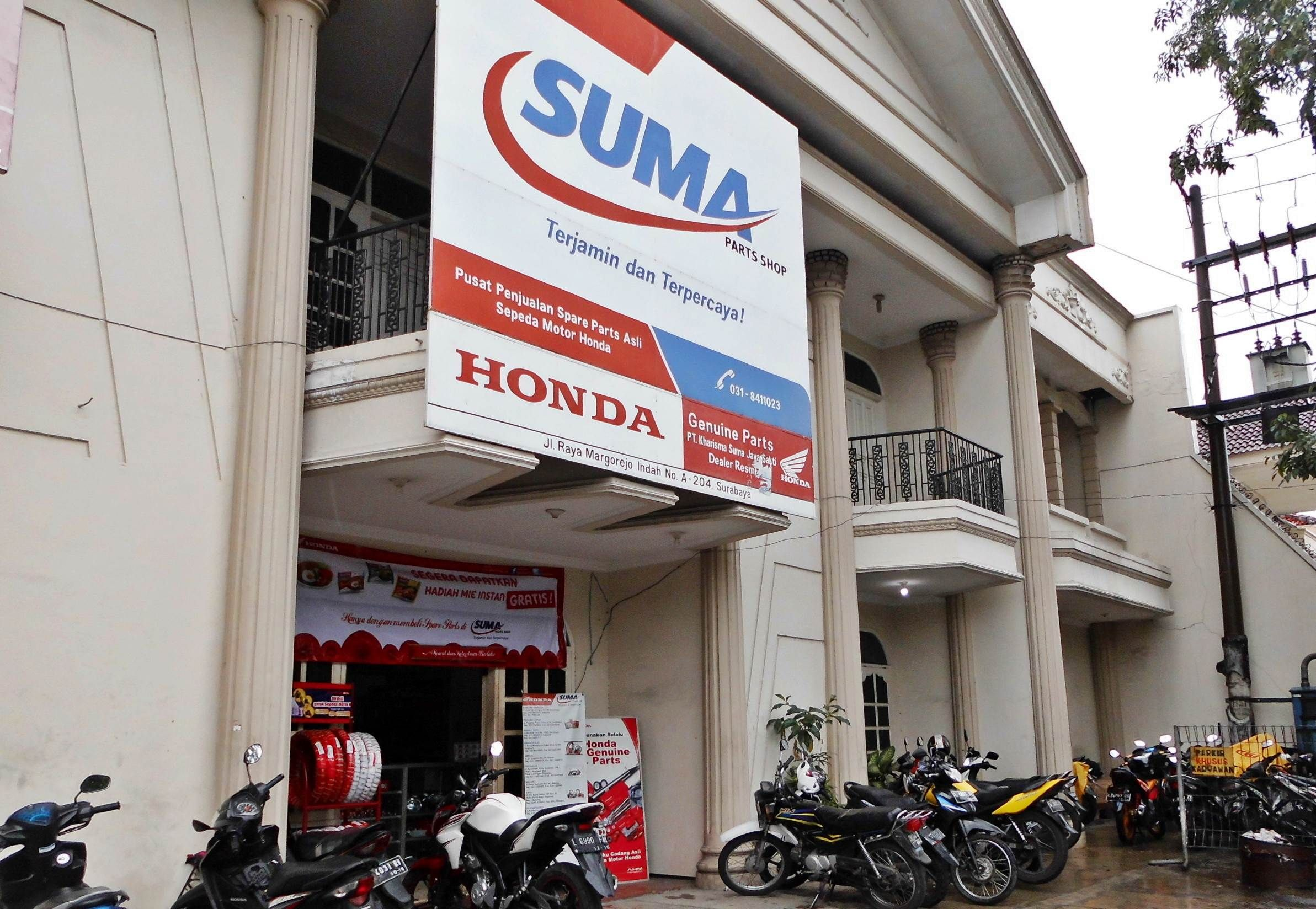 Tampak Depan Suma Parts Shop Margorejo Surabaya Honda Spareparts Sumapartsshop Surabaya Surabaya Honda