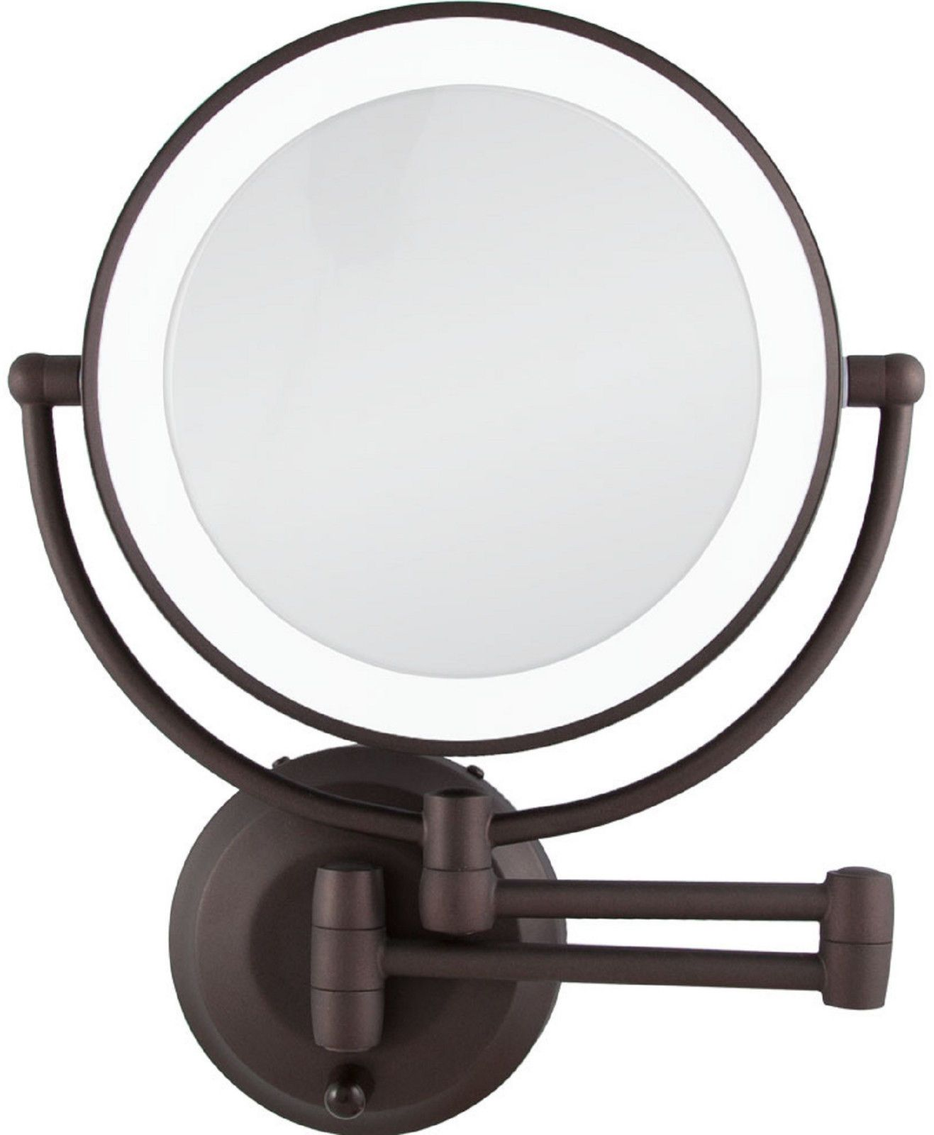 Zadro 1x 10x Cordless Led Lighted Wall Mount Makeup Mirror Ledw810 Bronze New Wall Mounted Makeup Mirror Lighted Wall Mirror Mirror