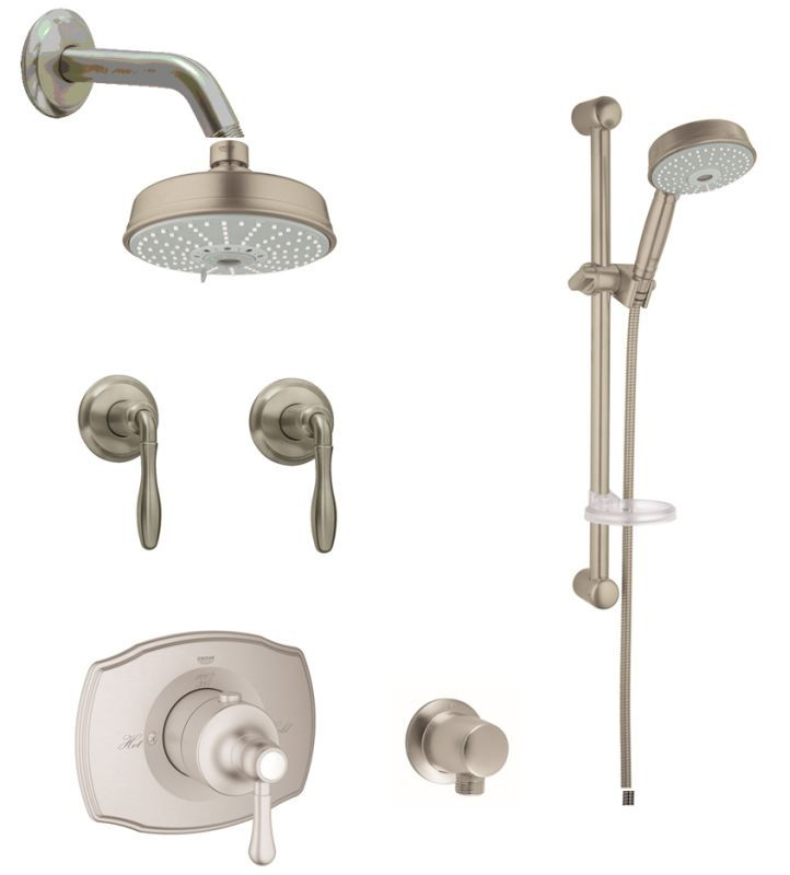 Grohe GSS-Authentic-CTH-07 Authentic Thermostatic Shower System ...