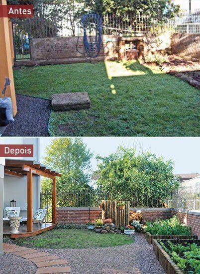 Antes E Depois Um Jardim Para Aproveitar Em Familia Com Imagens