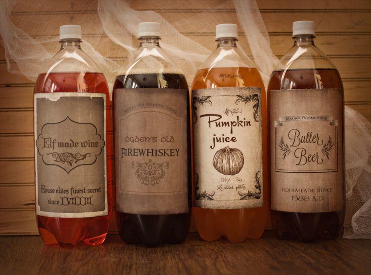 free harry potterhalloween drink printables - Halloween Punch Names