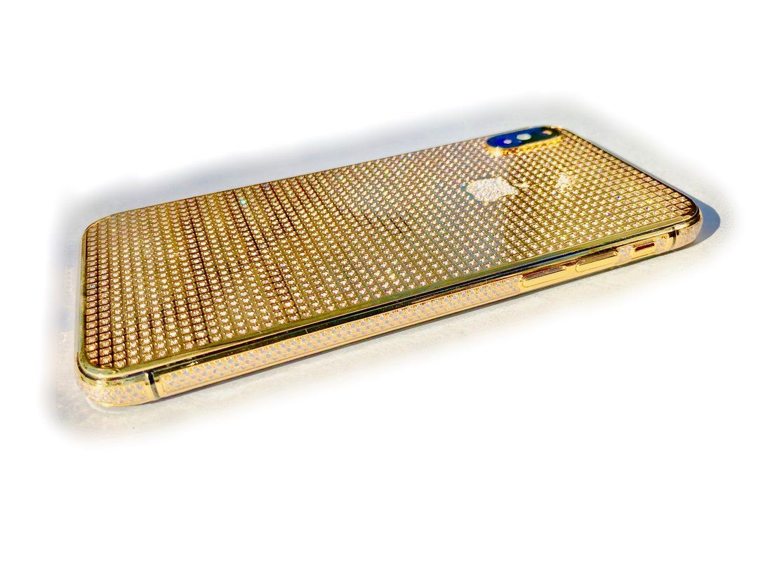 Iphone X 24k Gold Crystal Limited Edition 24k Gold Crystals Gold