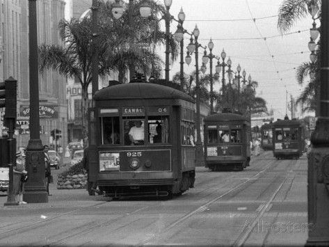 Canal Street Trolleys Photographic Print at AllPosters.com