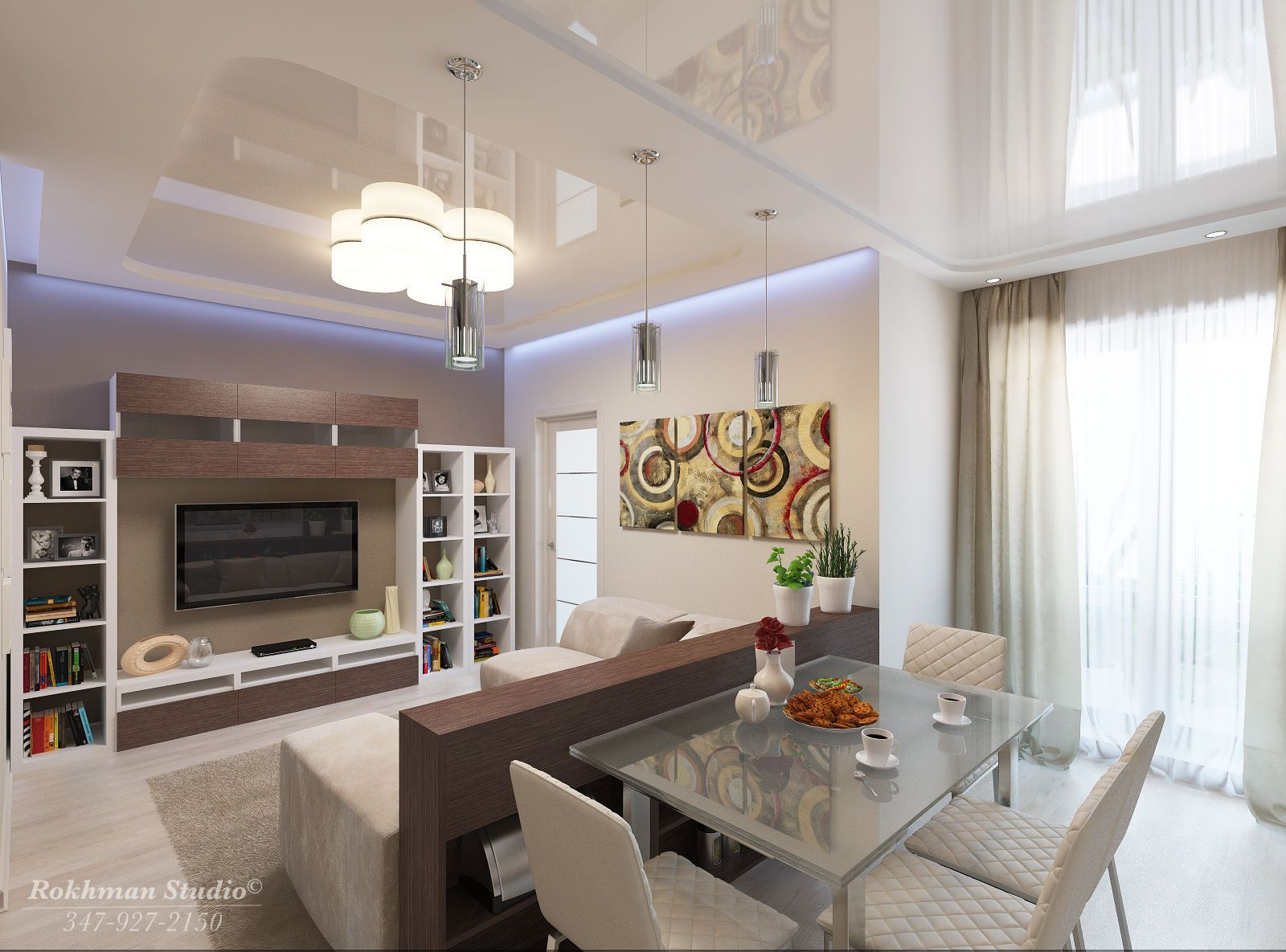 living room dining room combo in apartment | small condo ...