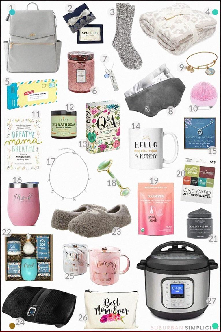 Whether for Christmas, a Birthday, Mother's day or to commend a first time mother, here are the Best Gifts for New Moms. This blessing guide is brimming with spoiling and down to earth thoughts she'll adore. The best blessing thoughts or care bundle! #suburbansimplicity #giftguide #newmoms #firstimemoms #christmasgiftideas #christmasideas #christmasgiftguide