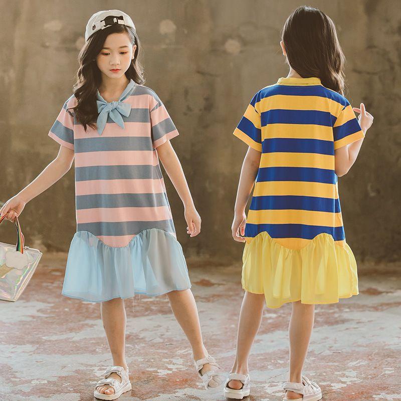 d31092dd1 Fashion Summer New Girls dress Cotton Cute Kids Dresses Chiffon ...