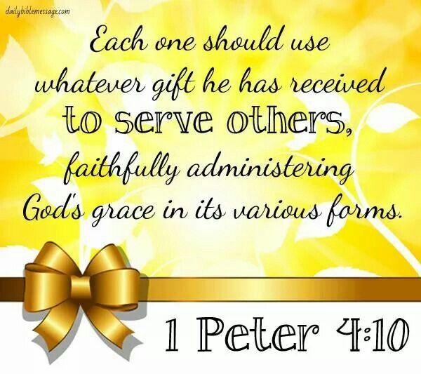 1 peter 410 info pinterest scriptures bible and verses 1 peter 410 scripture artbible scripturesbible quotesspiritual giftswomen of faithprayer negle Images