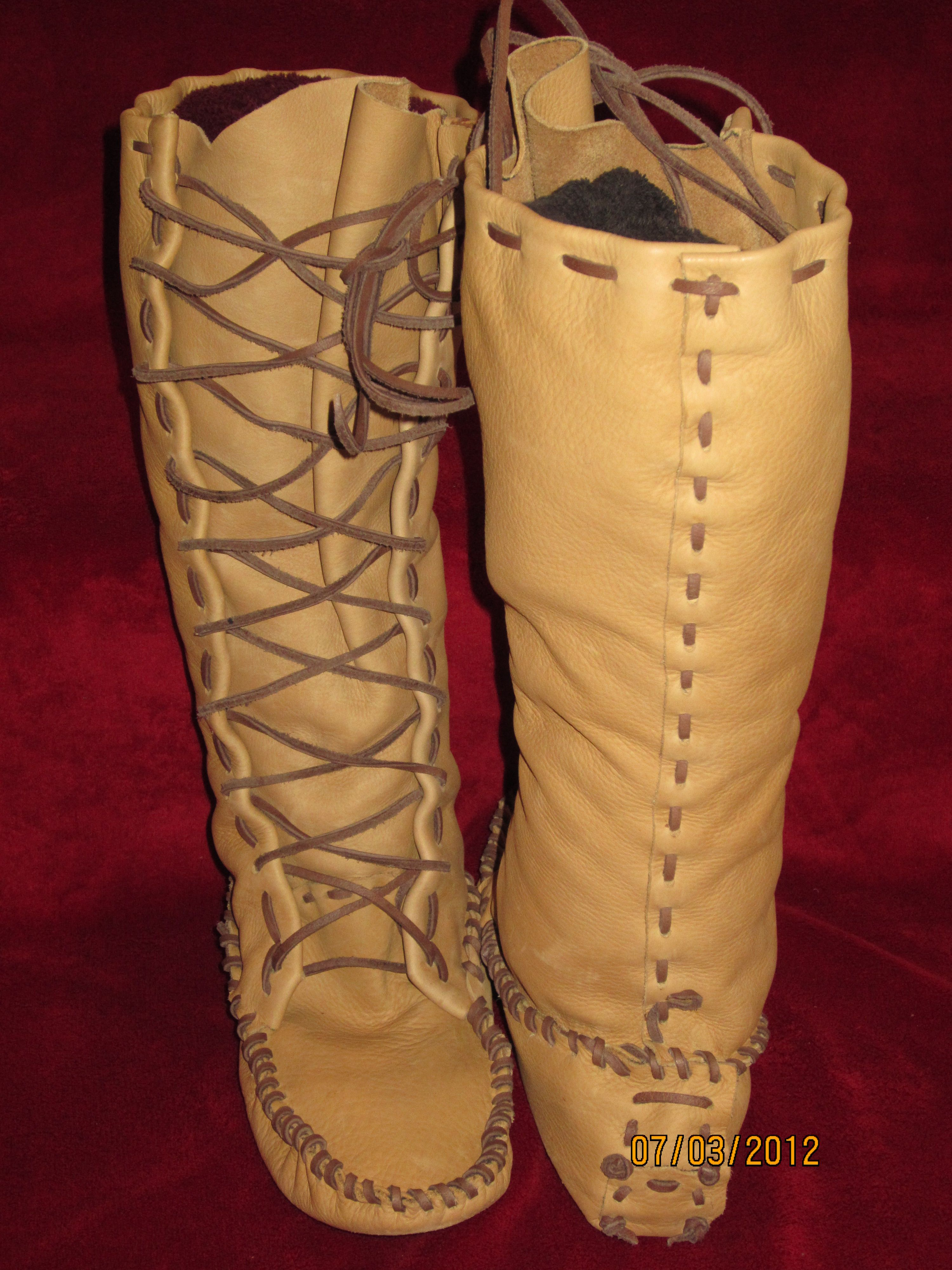 faf9819c7 Moccasins and Plainsman Boots | PM Custom Knives and Leather ...