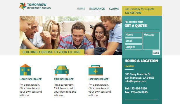 LAW website templates - Insurance Agency | Insurance ...
