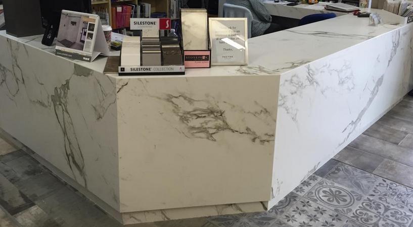 Dekton Aura Reception Desk