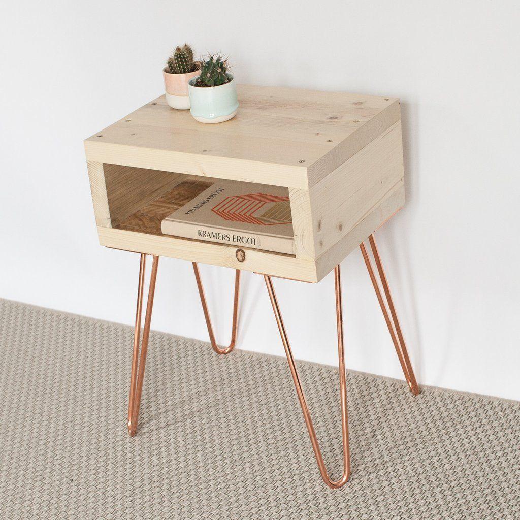 Olav Hairpin Leg Bedside Table Bedside Table Diy Copper Bedside Table Diy Side Table
