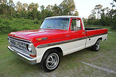 1971 Ford Trucks 1971 Ford F 100 Ranger Xlt Sport Custom Truck