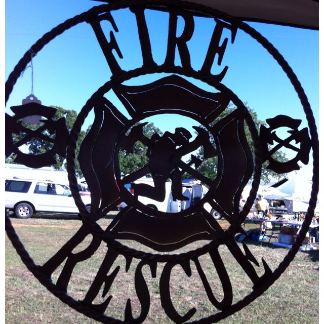 Metallic Welding Cnc Belarus: Fire Rescue Metal Art... For All The FDs Out There