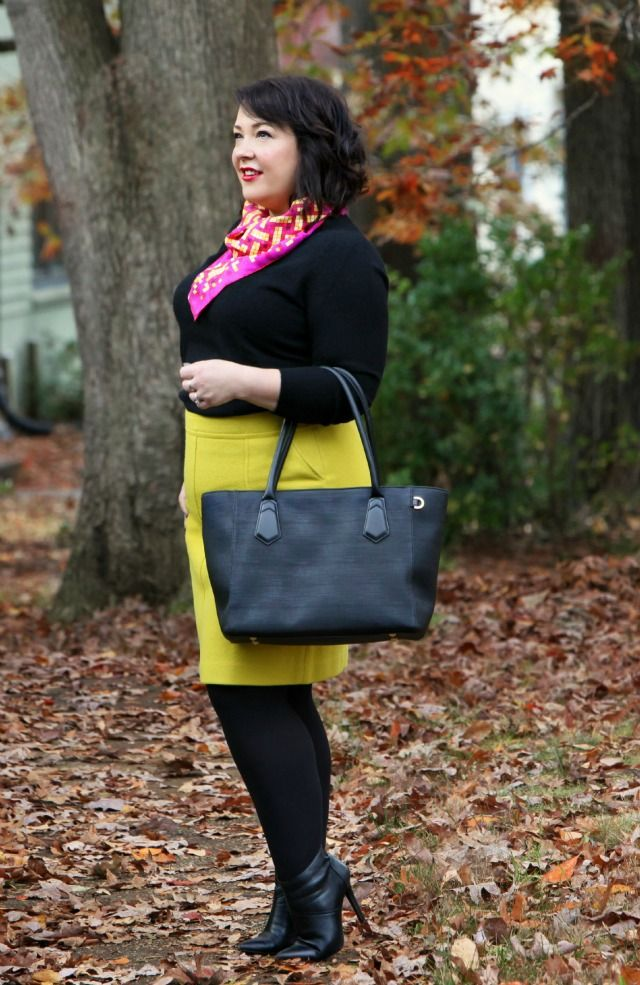 204f8105f3 What I Wore: Talbots A-Line Pocket Skirt | Talbots, Cashmere ...