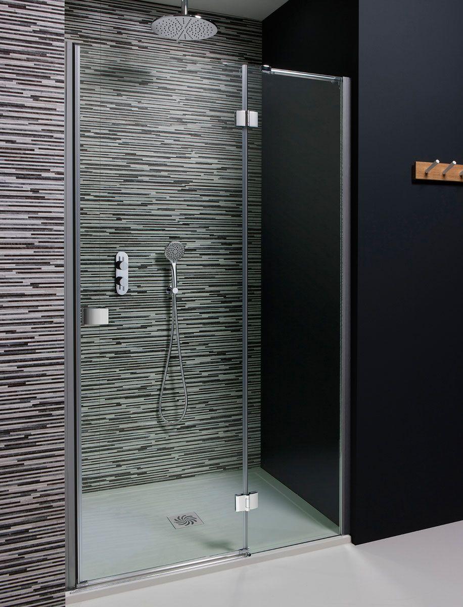 Design Hinged Shower Door With Inline Panel Walk In Shower Enclosures Shower Enclosure Shower Doors