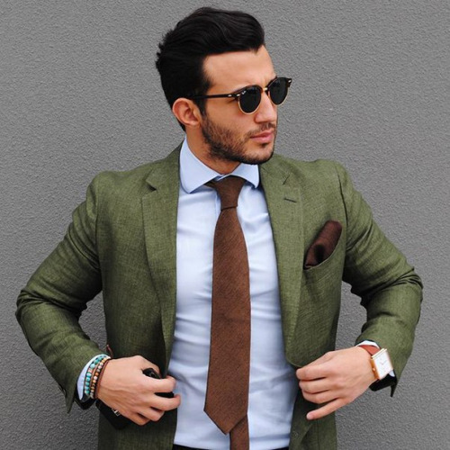eef6b35dab6 Autumn fashion color combinations  olive greens and dark browns. Grey  Jackets ...