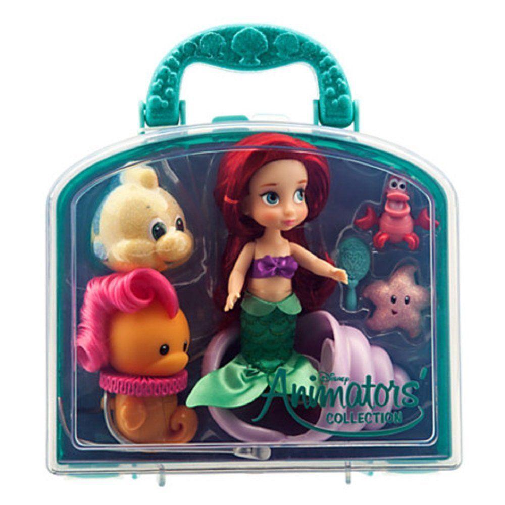 c4d9e539e79 Amazon.com  Disney Animators  Collection Ariel Mini Doll Play Set - 5     Toys   Games