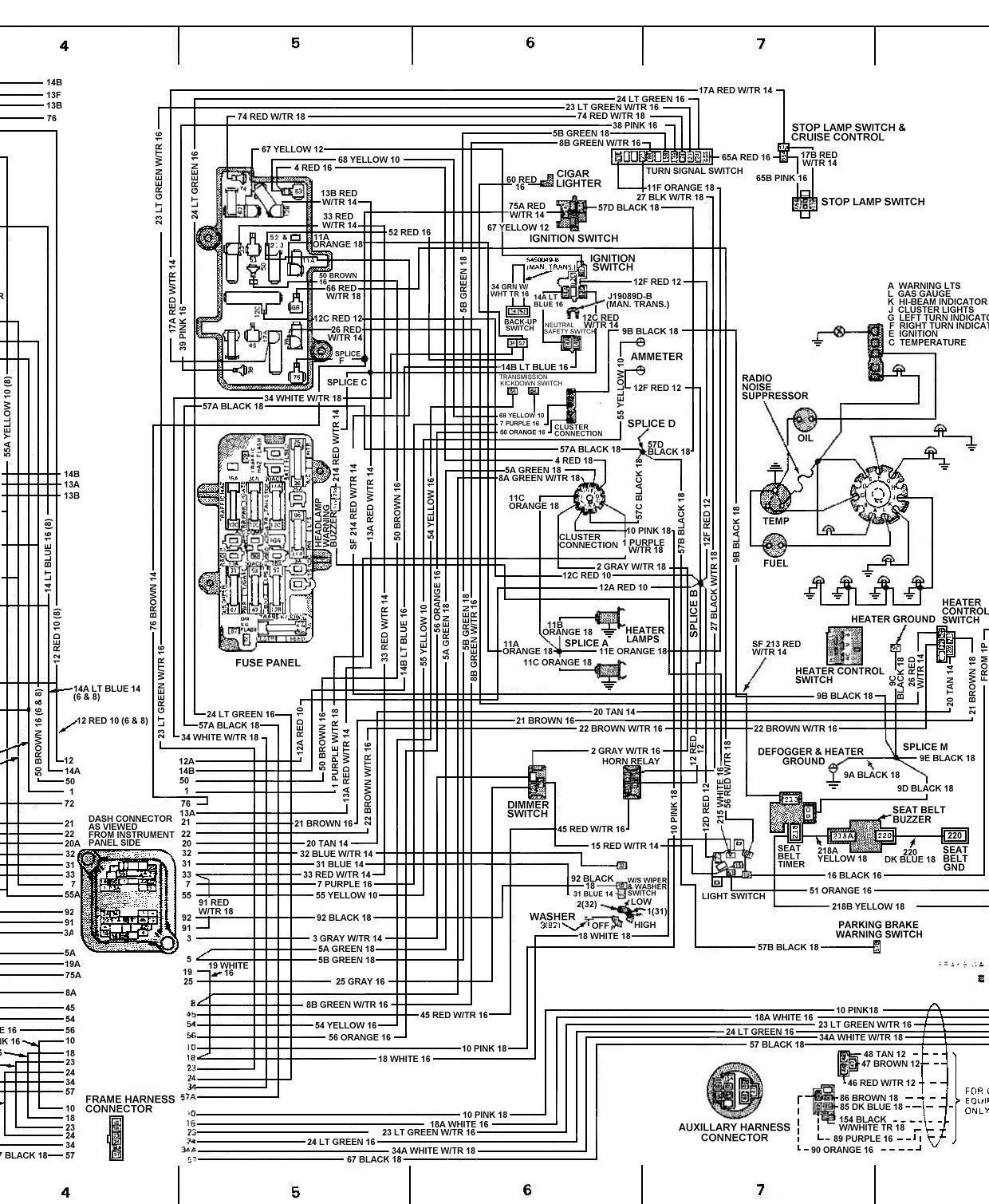 1976 corvette dash wiring diagram doorbell wire chevy diagrams / schematics | avalanche 2004 1500 pinterest honda accord, sedans and ...
