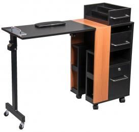 Our best selling nail table. Folds away, brilliant! #salonquip #salonfurniture #nailtable