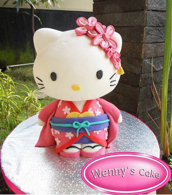 Hello Kitty Kimono japan 3D Cakes 3d cakes Kimono japan and