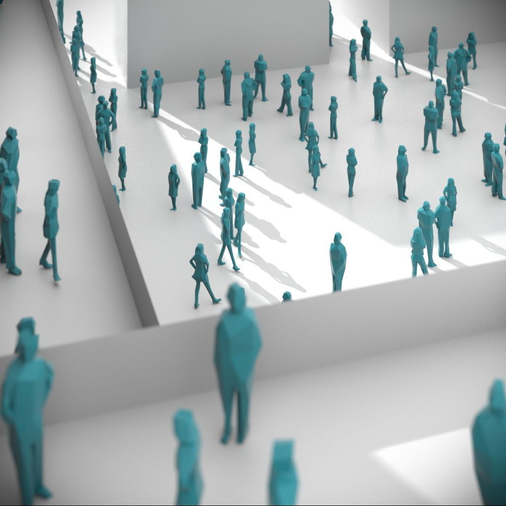 Low Poly People Pack 01 3d Model Download Royalty Free People 3d