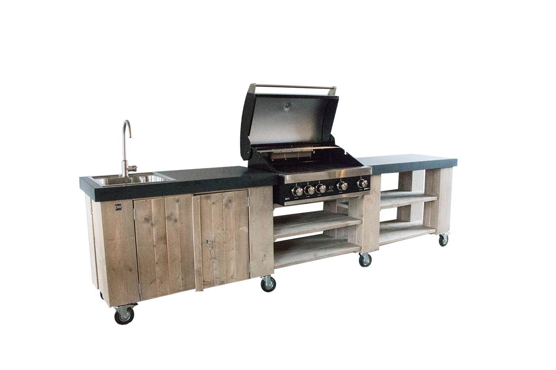Außenküche Mit Spüle : Außenküche mit grill spüle und arbeitstisch diy