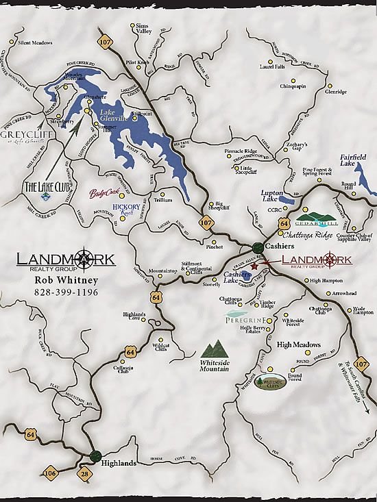 lake glenville nc map Maps Of Lake Glenville And Cashiers Area North Carolina Area lake glenville nc map