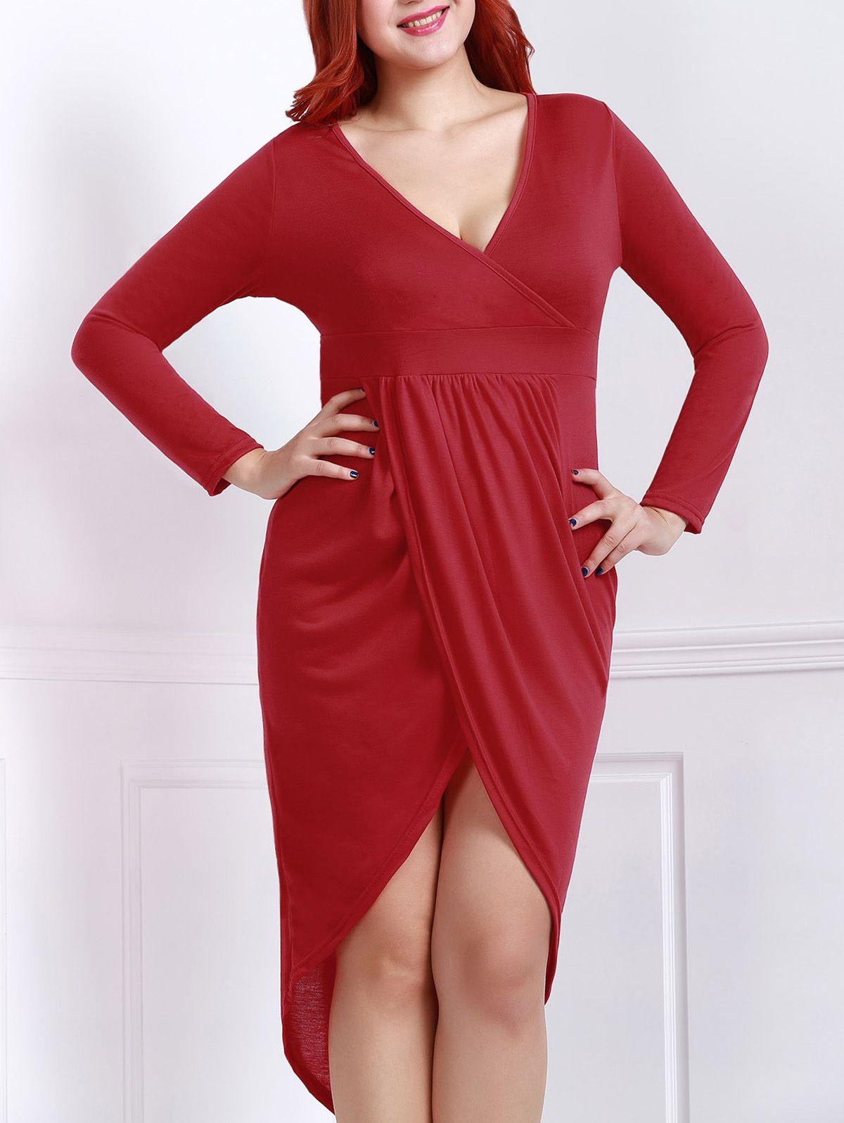 Plus size low plunge dress