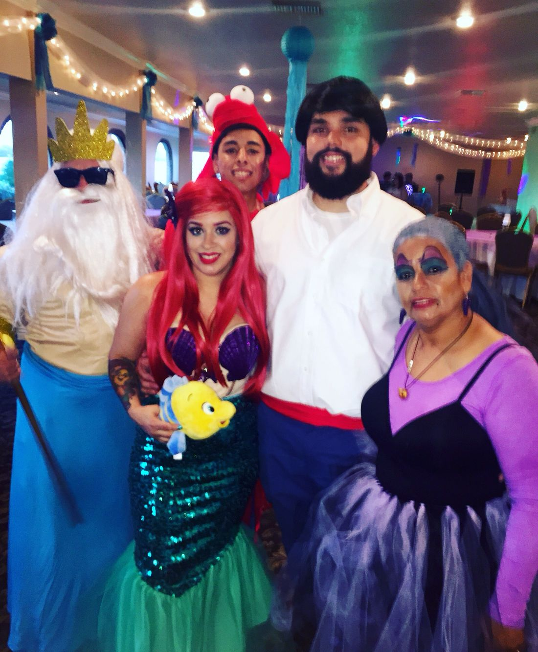 Halloween costumes, the little mermaid, under the sea party