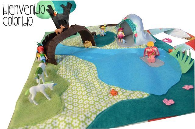 Spielteppich Nähen playmat with playmobiles couture spielteppich